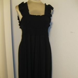 Just My Size Size 2X Sleeveless Black Dress